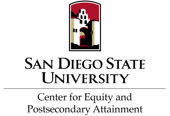 Logo for the Center for Equity and Postsecondary Attainment at San Diego State University